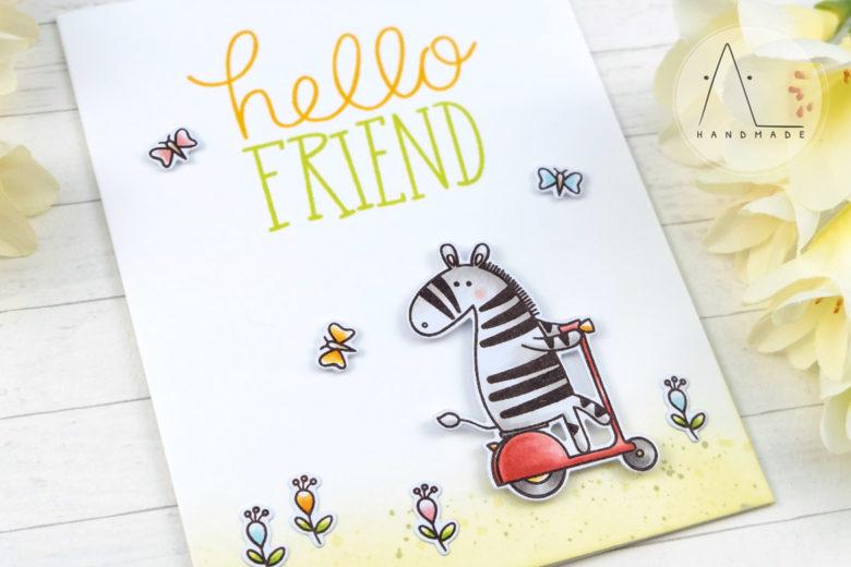 AL handmade - My Favorite Things DT - Zippy Zebras