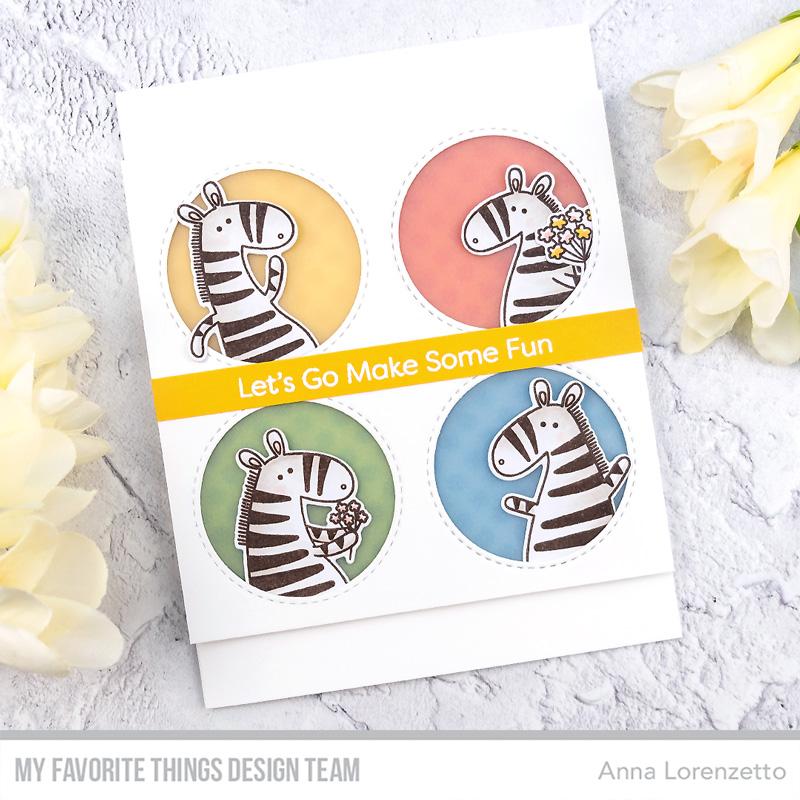 AL handmade - My Favorite Things DT - WSC 467 - Zippy Zebras stamp set