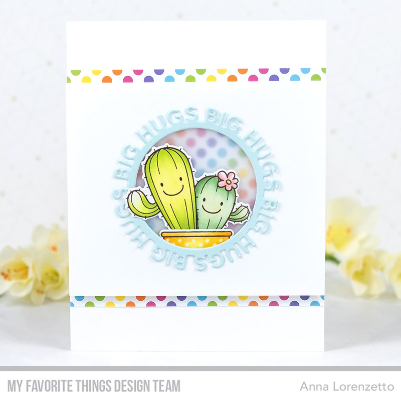 AL handmade - My Favorite Things DT - BB Let's Stick Together stamp set and Big Hughs Circle Frame Die-namics
