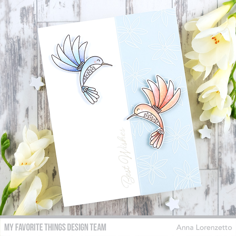 AL handmade - My Favorite Things - Happy Hummingbirds stamp set and Die-namics