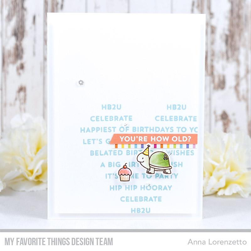 AL handmade - My Favorite Things DT - WSC 484 - BB Birth-Yay stamp set and Die-namics
