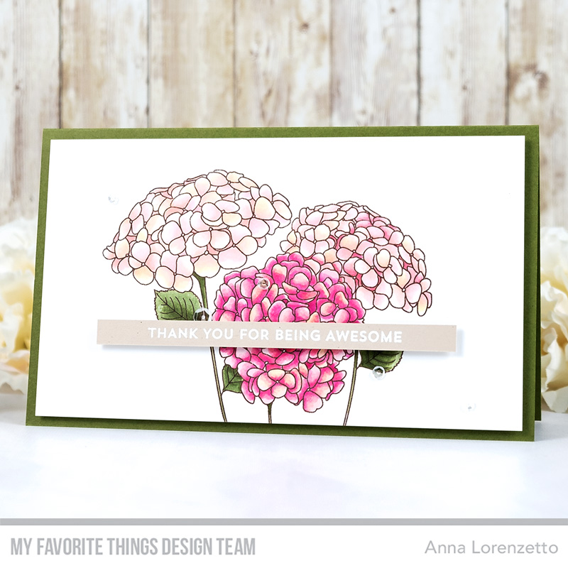 AL handmade - My Favorite Things DT - Color Challenge 144 - Hydrangeas in Bloom stamp set