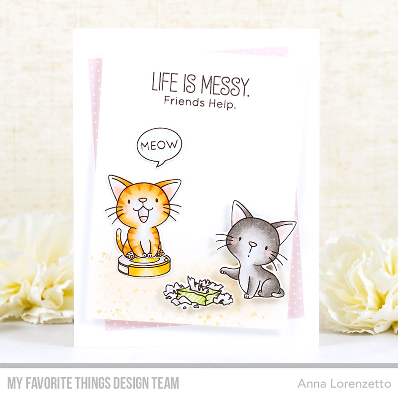 AL handmade - My Favorite Things - BB Cat-astrophe stamp set and Die-namics
