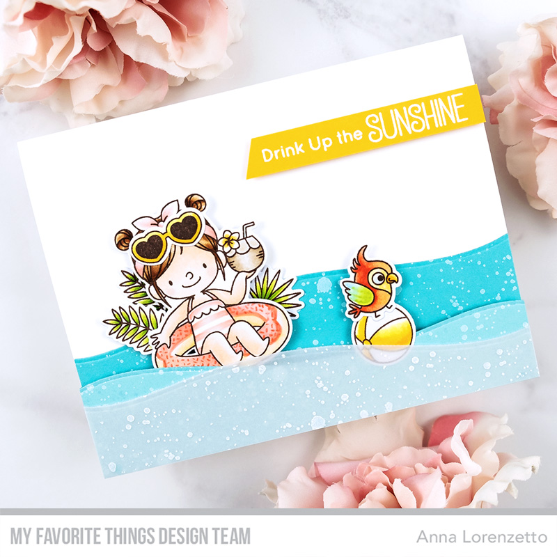 AL handmade - My Favorite Things DT - WSC 493 - BB Drink Up the Sunshine stamp set and Die-namics