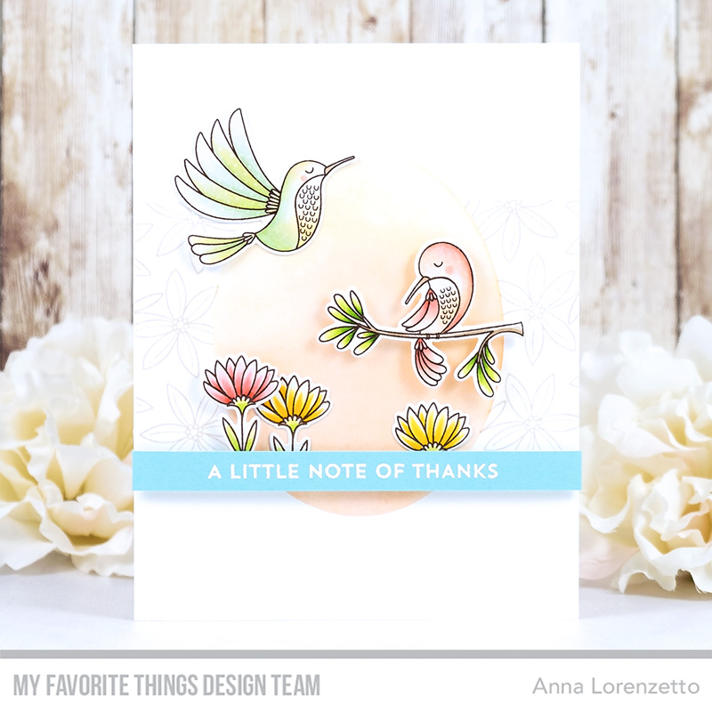 AL handmade - My Favorite Things DT - WSC 494 - Happy Hummingbirds stamp set and Die-namics