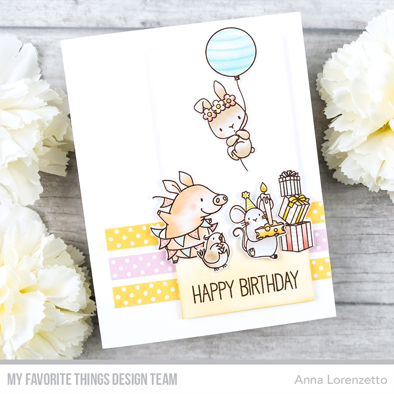 AL handmade - My Favorite Things - BB Birthday Buds stamp set and Die-namics