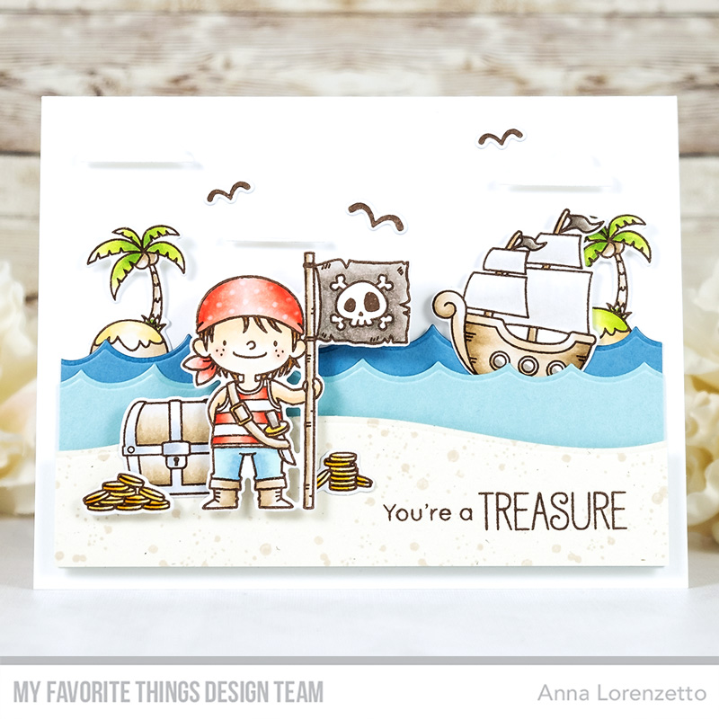 AL handmade - My Favorite Things - BB Party like a Pirate stamp set and Die-nammics