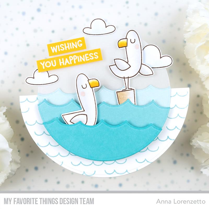 AL handmade - My Favorite Things - Seaside Seagulls stamp set and Die-namics