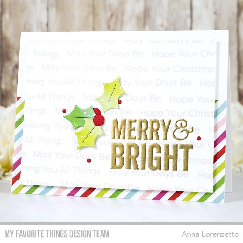 AL handmade - My Favorite Things - Merry & Bright Card Kit - Merry & Bright stamp set and Holly Berries Die-namics