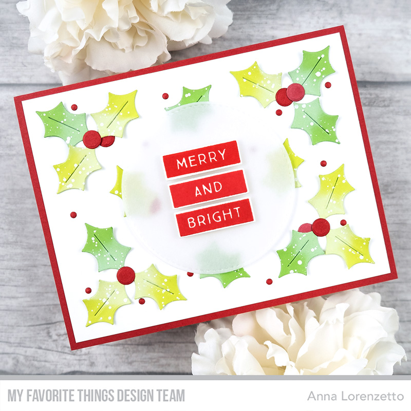 AL handmade - My Favorite Things - Merry & Bright Card Kit - Merry & Bright stamp set and Holly Berries Die-namics