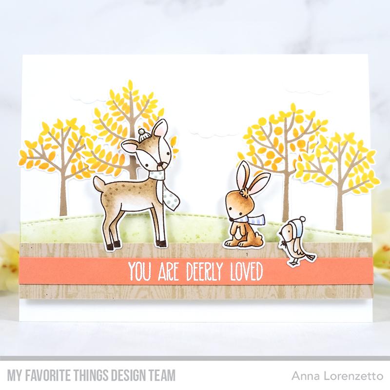 AL handmade - My Favorite Things - Dashing Deer stamp set and Modern Trees stamp set
