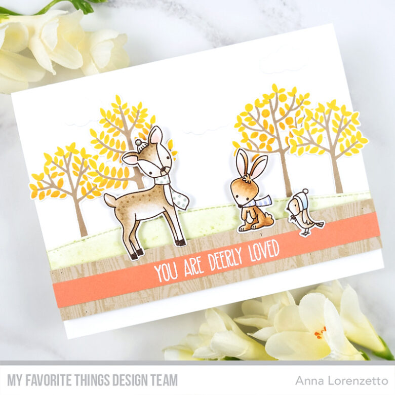 AL handmade - My Favorite Things - Dashing Deer stamp set and Modern Trees stamp set