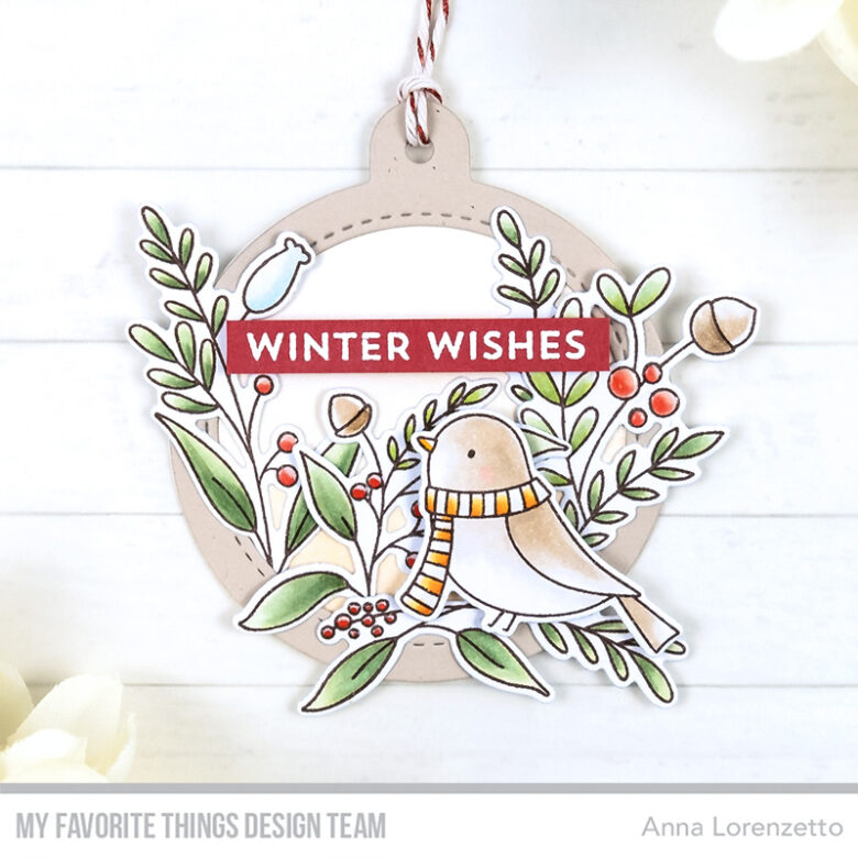 AL handmade - My Favorite Things - 25 Days of Christmas Tags - Winter Songbird stamp set and Tag Builder Blueprints 6 Die-namics
