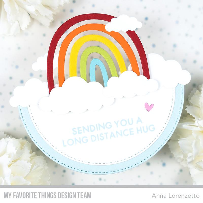 AL handmade - My Favorite Things - Miss Your Hugs Card Kit - Happy Rainbows Die-namics and I Miss Your Hugs stamp set