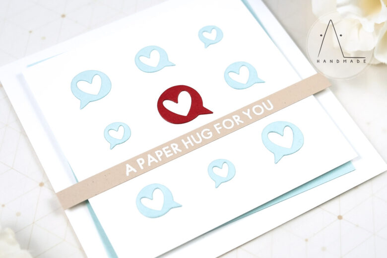 AL handmade - My Favorite Things - Miss Your Hugs Card Kit - Love Speech Die-namics and I Miss Your Hugs stamp set