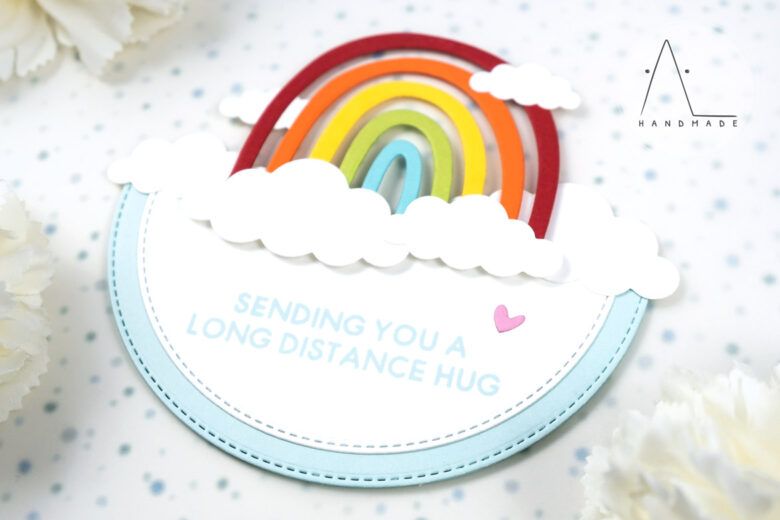 AL handmade - My Favorite Things - Miss Your Hugs Card Kit - Happy Rainbows Die-namics and I Miss Your Hugs stamp set