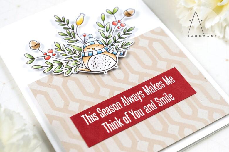 AL handmade - My Favorite Things - Winter Songbird stamp set and Die-namics