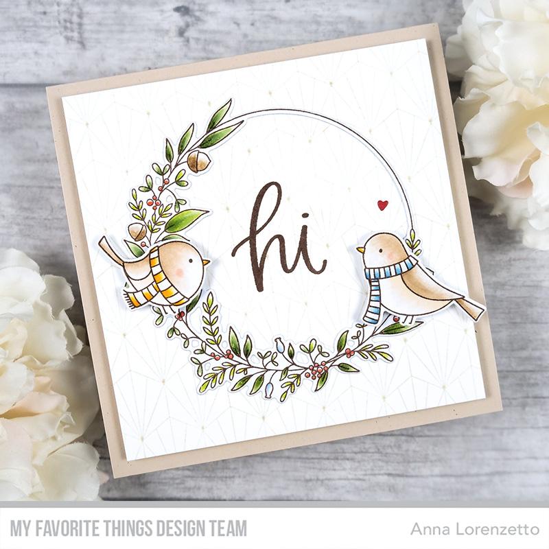 AL handmade - My Favorite Things - Winter Songbird and Winter Wreath stamp set