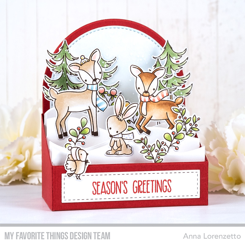 AL handmade - My Favorite Things DT - Outside the Box - Dashing Deer stamp set and Outside the Box Level Up Die-namics