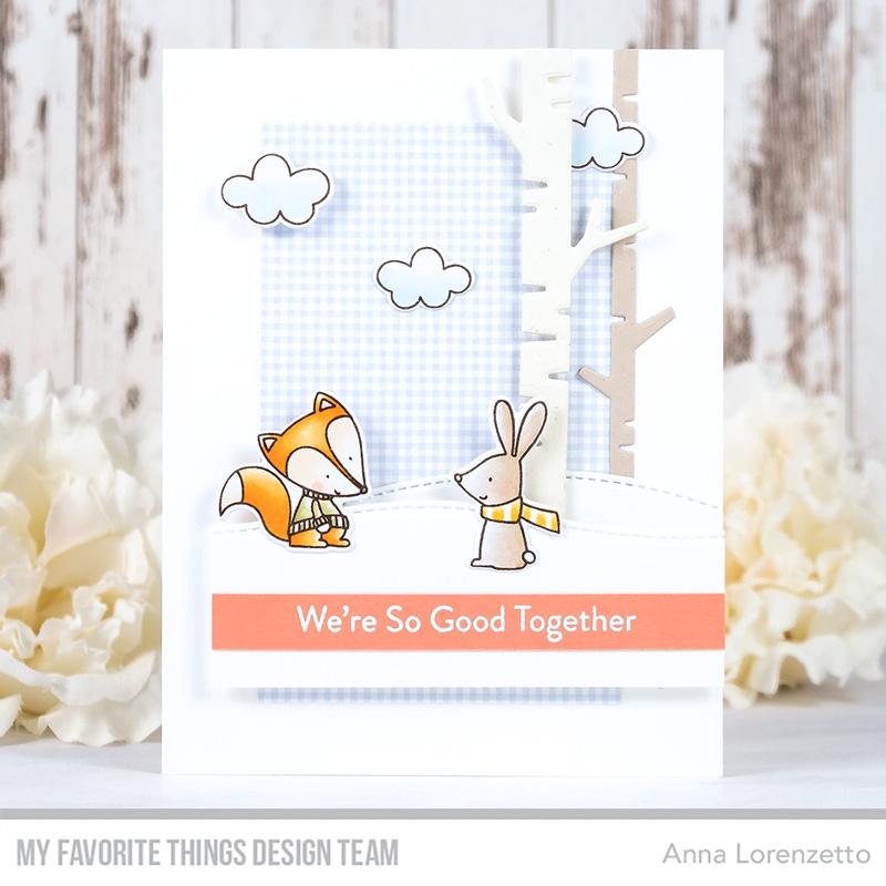 AL handmade - My Favorite Things DT - WSC 516 - Fox and Friends stamp set and Birch Trees Die-namics