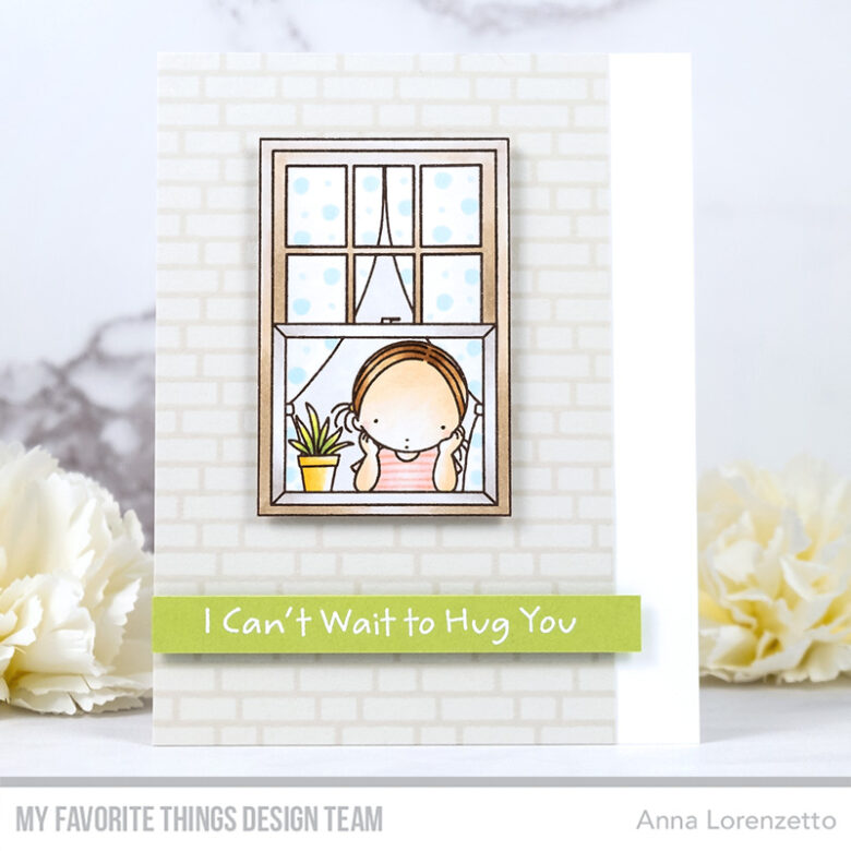 AL handmade - My Favorite Things - Missing You stamp set and English Brick Wall Background