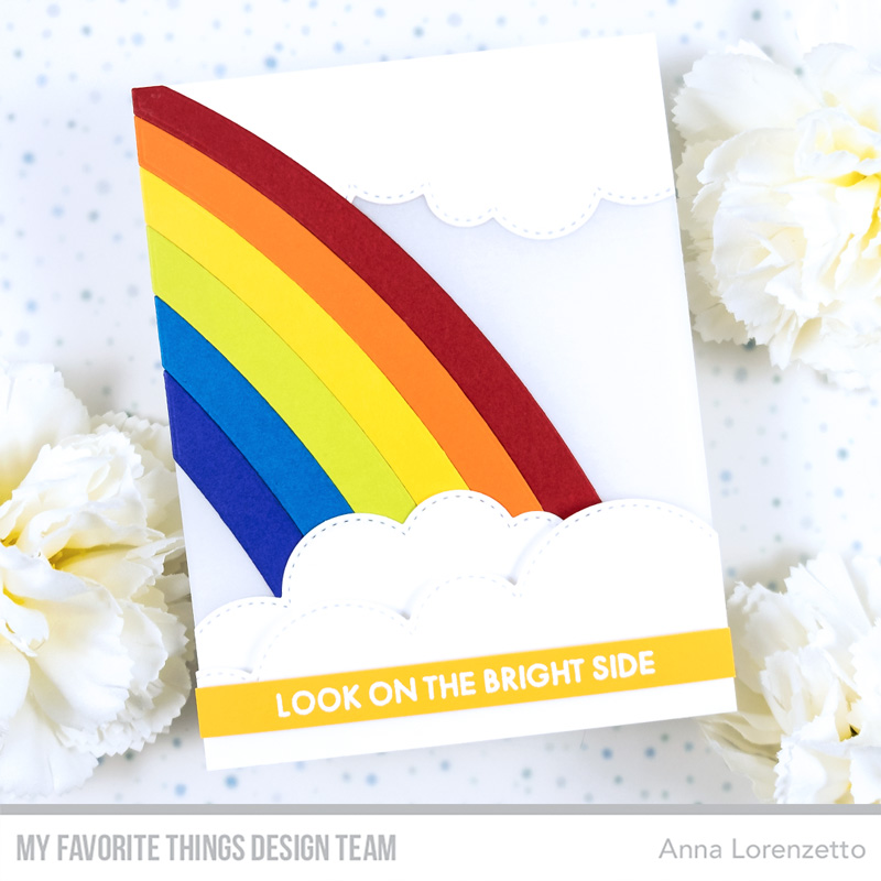 AL handmade - My Favorite Things - Wild About Rainbows Card Kit - Good Vibes Only stamp set and Cascading Rainbow Die-namics