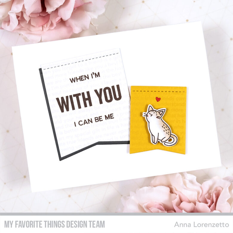 AL handmade - My Favorite Things - Friendship Card Kit - What Friendship Means stamp set and Stitched Jumbo Fishtail Flags Die-namics