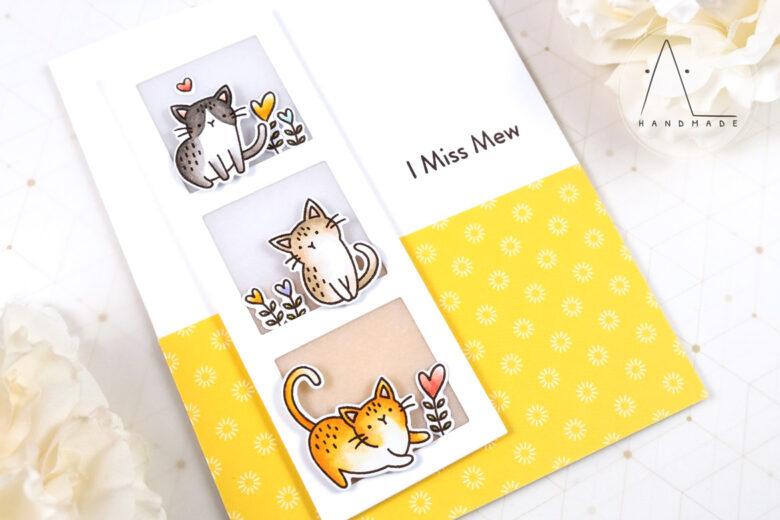 AL handmade - My Favorite Things - Mini Meows stamp set and Die-namics