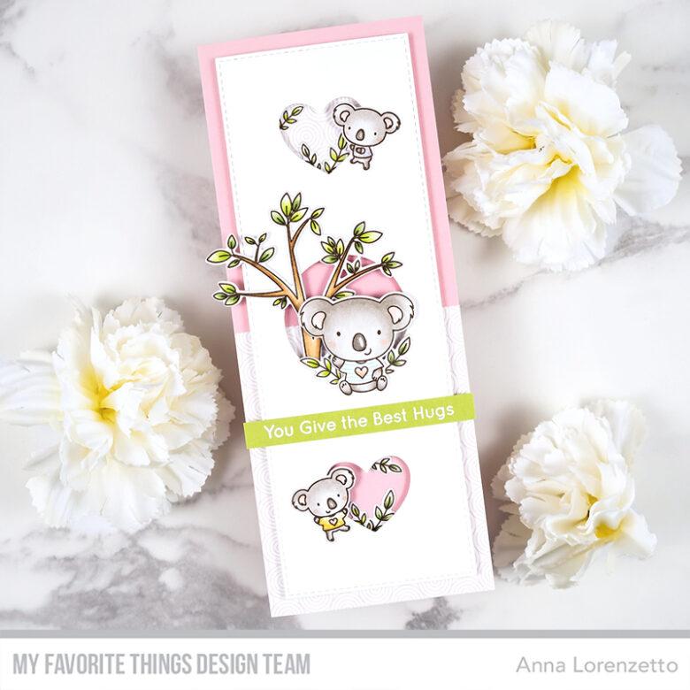 AL handmade - My Favorite Things - Koala-ty Time stamp set and Slimline Slide-In Die-namics