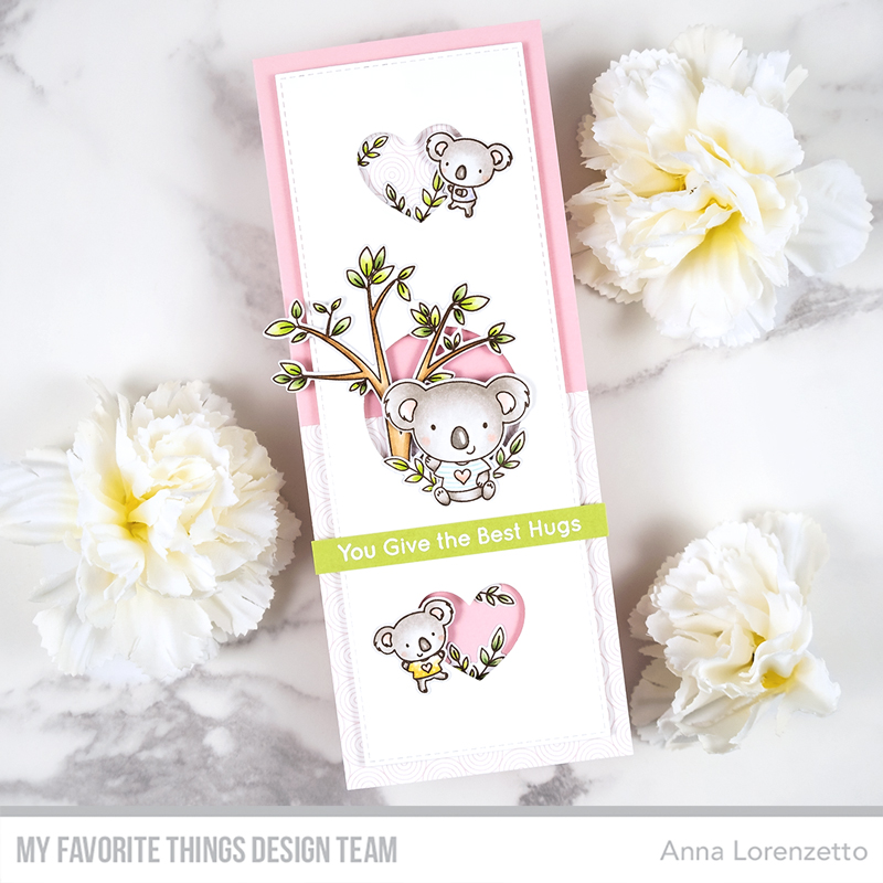 AL handmade - My Favorite Things - Koala-ty Time stamp set and Slimline Slide-In Die-namics