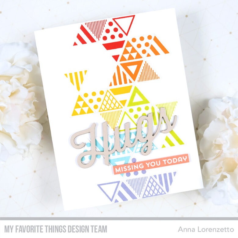 AL handmade - My Favorite Things - Trendy Triangles stamp set and Twice the Hugs Die-namics