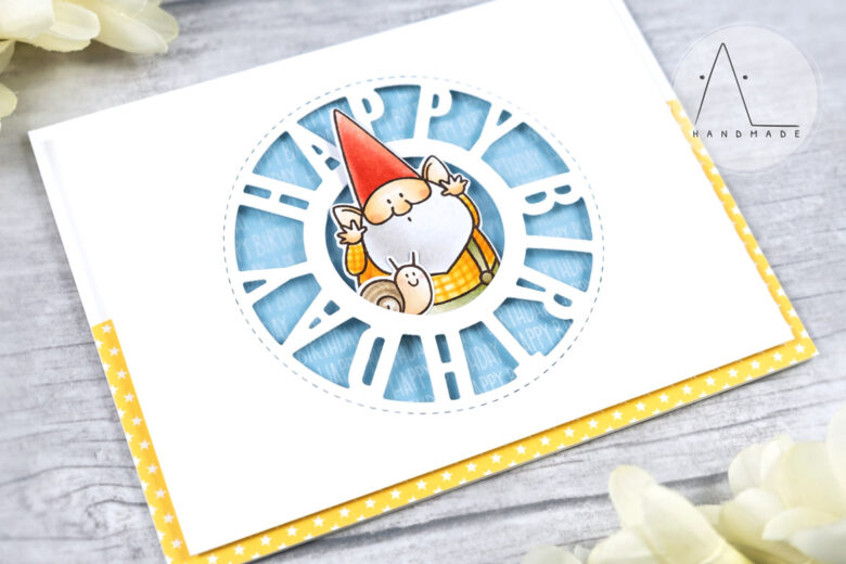 AL handmade - My Favorite Things - BB You Gnome Me stamp set and Birthday Centerpieces Die-namics