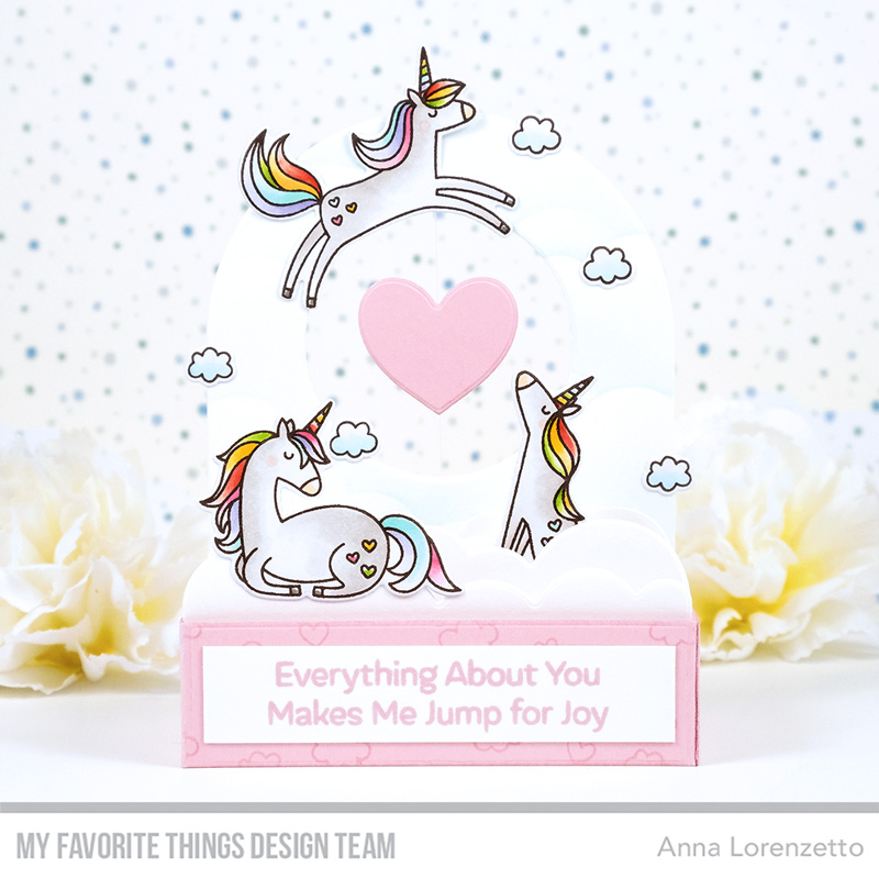 AL handmade - My Favorite Things DT - Outside the Box - Friendly Unicorns stamp set and Outside the Box Level Up Die-namics