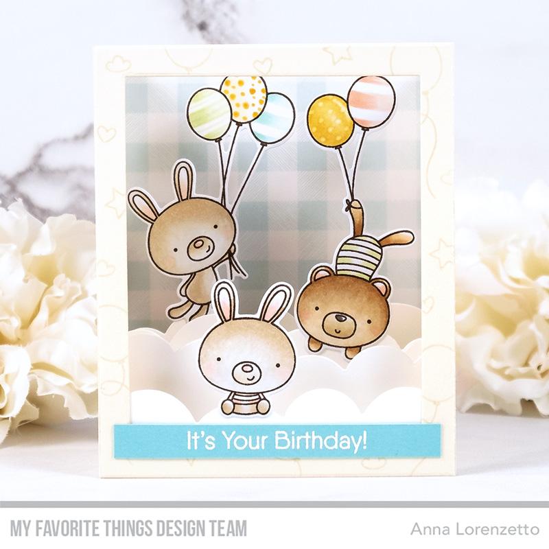 AL handmade - My Favorite Things - Balloon Besties stamp set and Shadow Box Die-namics