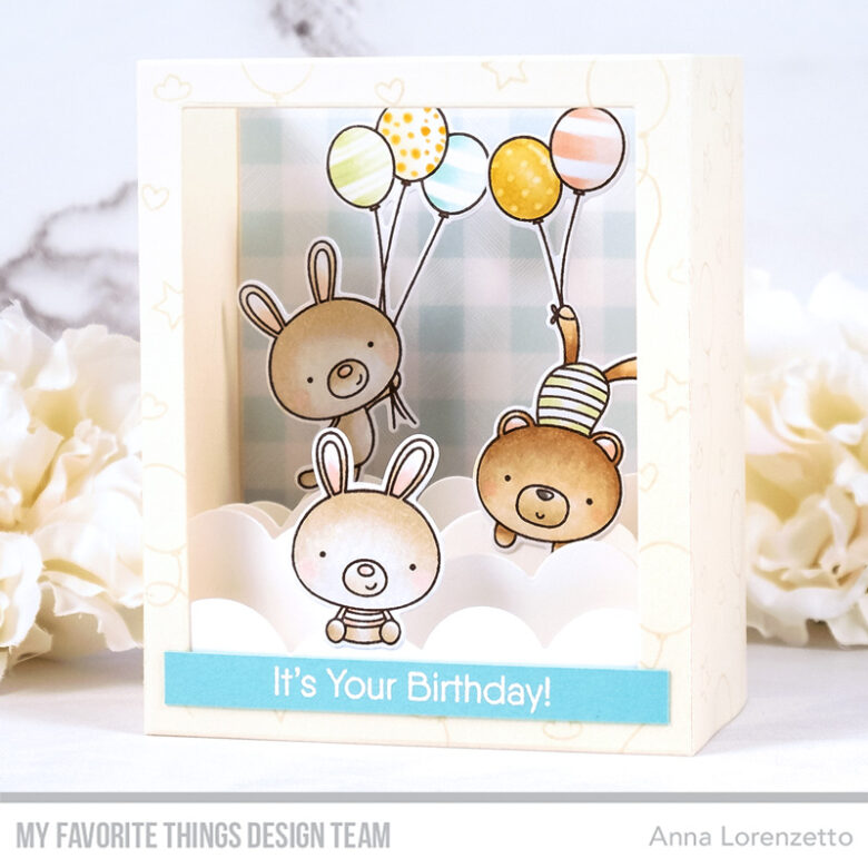 AL handmade - My Favorite Things - Balloon Besties stamp set and Shadow Box Die-namics