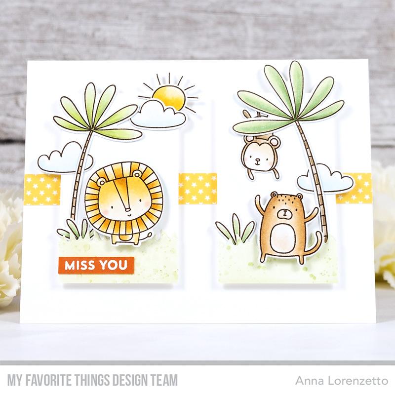AL handmade - My Favorite Things DT - WSC 531 - Sweet Safari stamp set and Die-namics