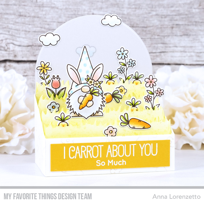 AL handmade - My Favorite Things - BB Spring Gnomes stamp set and Outside the Box Level Up Die-namics