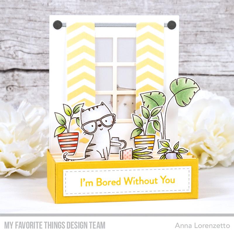 AL handmade - My Favorite Things - Cats & Plants Card Kit - Housecats stamp set Window Dressing Die-namics