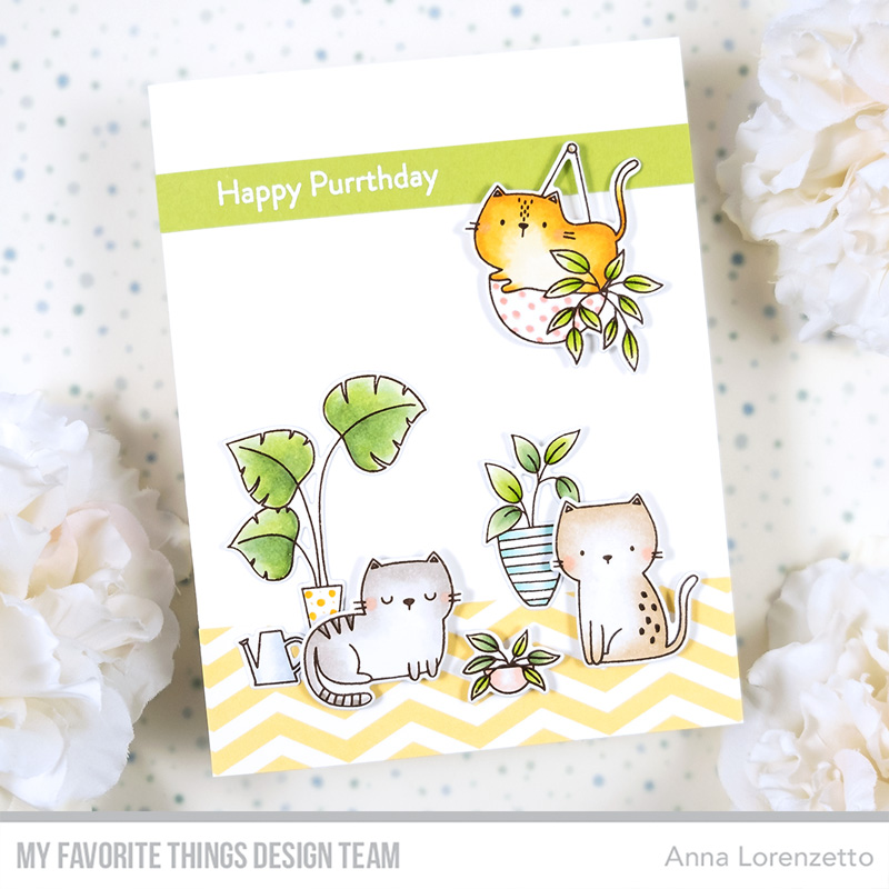 AL handmade - My Favorite Things - Cats & Plants Card Kit - Housecats stamp set and Die-namics