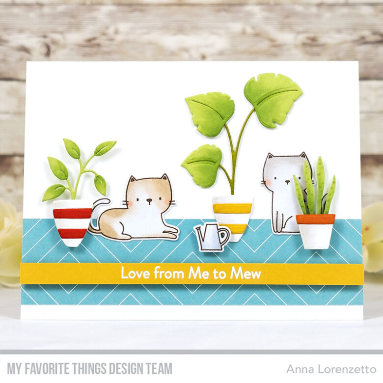 AL handmade - My Favorite Things - Cats & Plants Card Kit - Housecats stamp set and Houseplants Die-namics