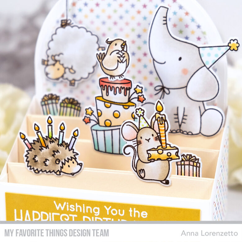 AL handmade - My Favorite Things DT - Outside the Box - BB Birthday Buds stamp set and Outside the Box Level Up Die-namics