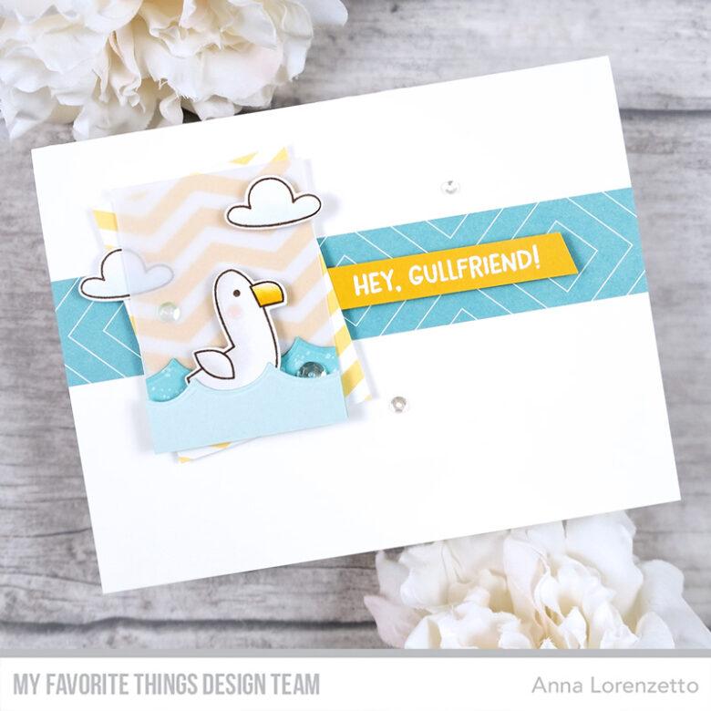 AL handmade - My Favorite Things DT - WSC 535 - Seaside Seagulls stamp set and Die-namics