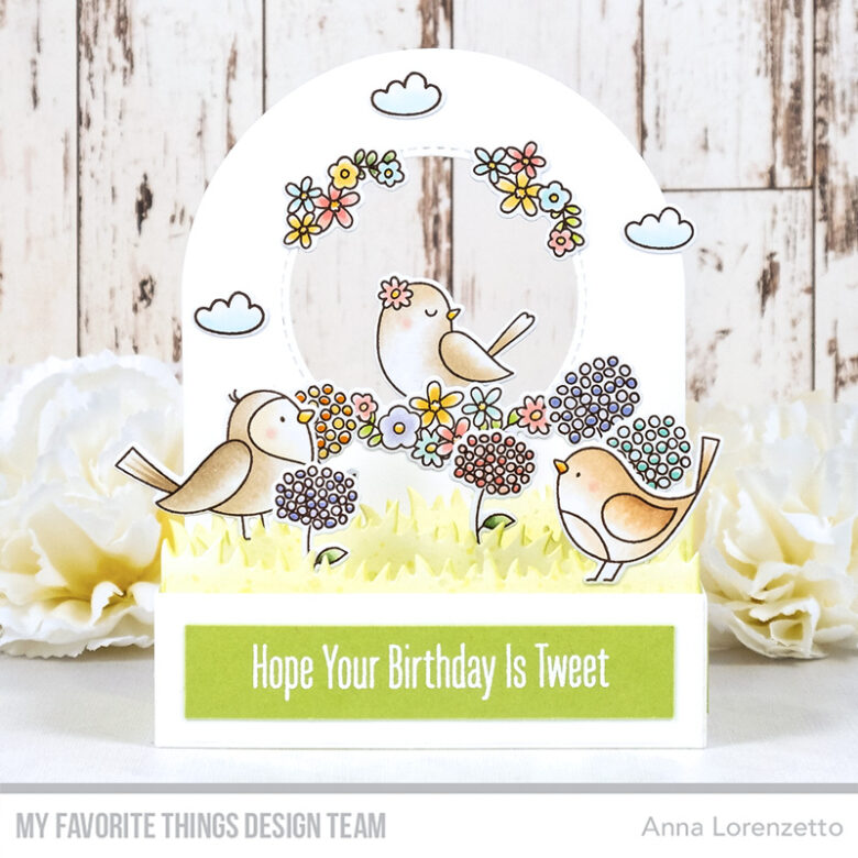 AL handmade - My Favorite Things - Spring Songbird stamp set and Outside the Box Low Profile Add-On Die-namics