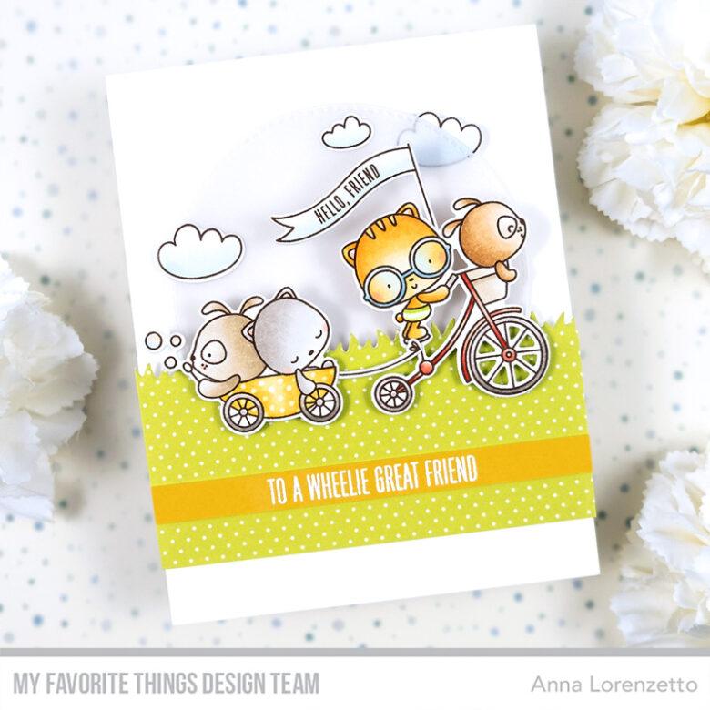 AL handmade - My Favorite Things - Wheelie Great Friend stamp set and Die-namics