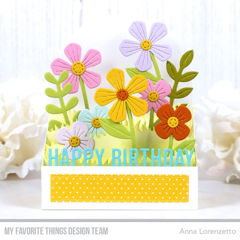 AL handmade - My Favorite Things - Box Card Bouquet Die-namics and Box Card Greetings Die-namics
