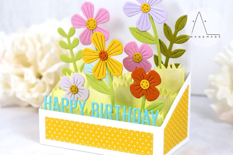 AL handmade - My Favorite Things - Box Card Bouquet Die-namics and Box Card Greetings Die-namics