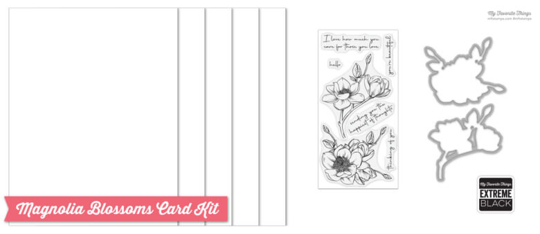 My Favorite Things - Magnolia Blossoms Card Kit Content