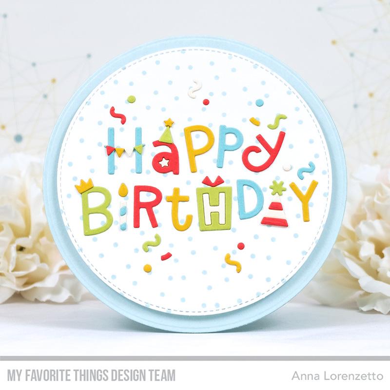 AL handmade - My Favorite Things - Happy Birthday Party Die-namics