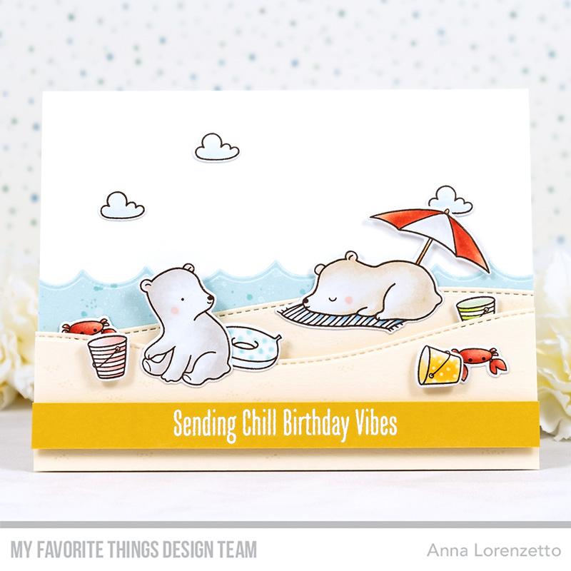 AL handmade - My Favorite Things - Beach Bear stamp set and Die-namics