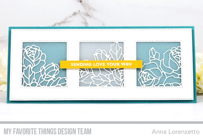AL handmade - My Favorite Things - Graphic Roses Die-namics and Slimline Stitched Square Trio Die-namics
